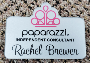 Paparazzi Name Badge - Silver w/ Color