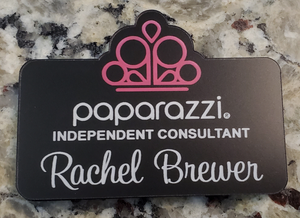 Paparazzi Name Badge - Black w/ Color