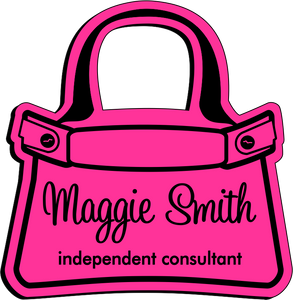 Purse Shaped Name Badge - Pink w/ Black