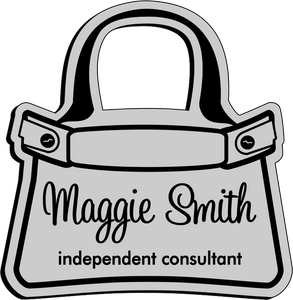 Purse Shaped Name Badge - Silver w/ Black