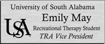 Load image into Gallery viewer, University of South Alabama Recreational Therapy Student Name Badge