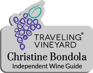 Traveling Vineyard Name Badge - Silver w/ Color