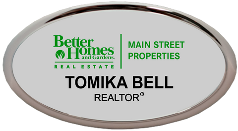 Better Homes and Gardens - Main Street Properties - Oval Holder - Silver w/ Color