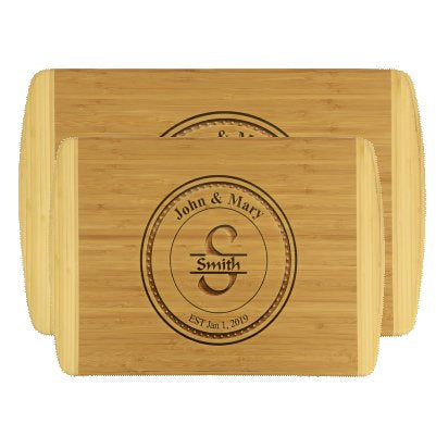 Engraved Bamboo Cutting Boards Personalized