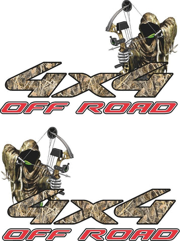 4x4  Offroad Truck Decal Reaper Bowhunting Cast Vinyl