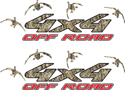 4x4 Truck Offroad Decal Tallgrass Camo Duck Hunting Cast Vinyl