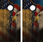 Cornhole Wrap Decal We The People Gun Rights Weathered Wood Laminated Includes 2 Decals