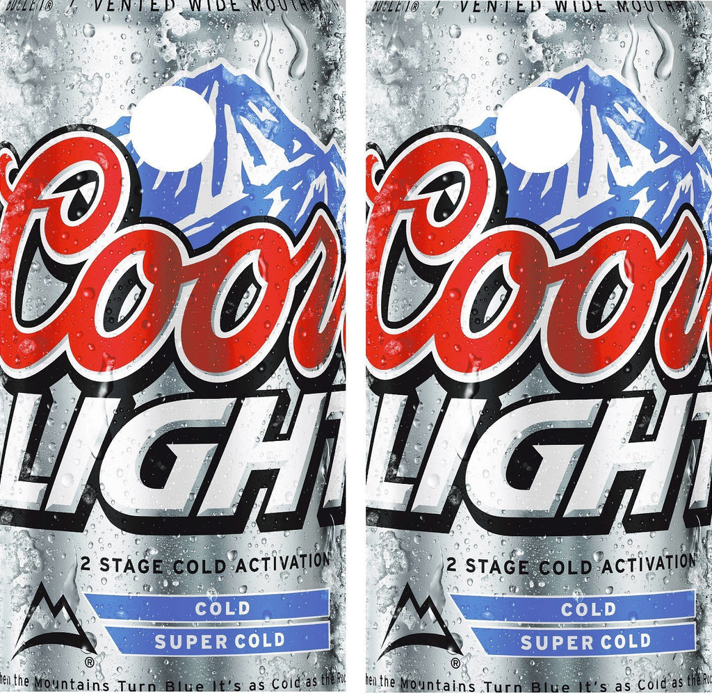 Cornhole Wrap Decal Coors Light Beer Laminated Includes 2 Decals