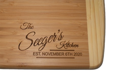 Tremble Engraved Cutting Boards Personalized 12x18