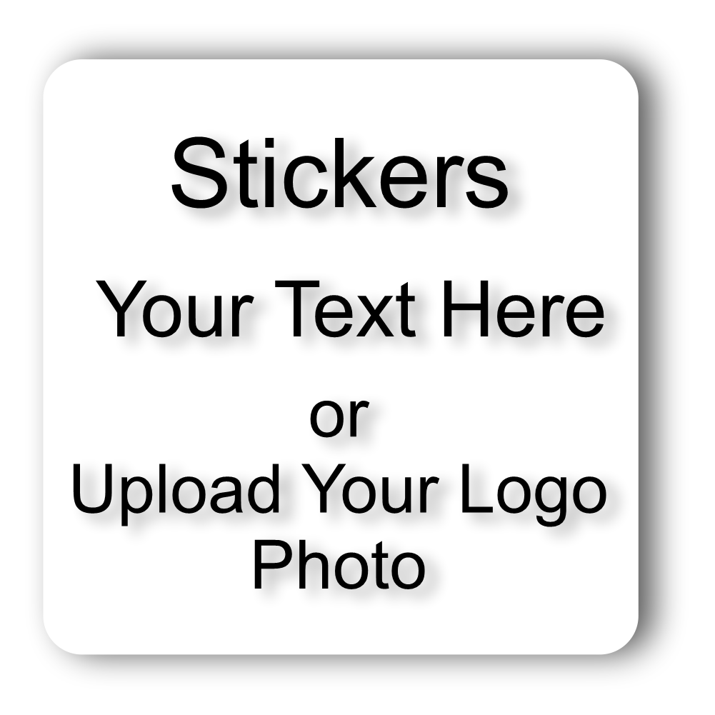 AV Grafx Custom Personlized Stickers and Decals 2x2 Inch Square Online Designer 100 Qty.