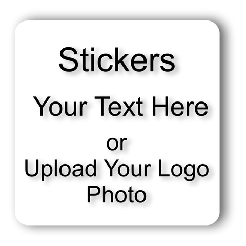 AV Grafx Custom Personlized Stickers and Decals 2x2 Inch Square Online Designer 115 Qty.