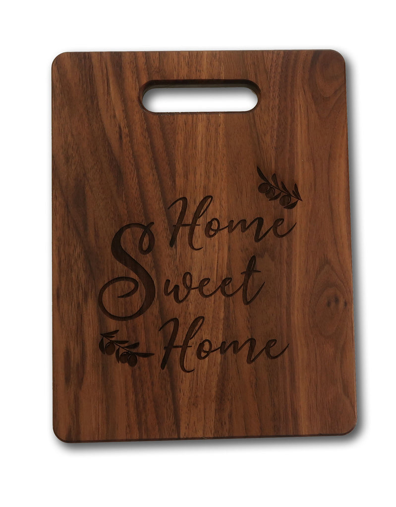 Beautiful Engraved Walnut Cutting Board Gift Home Sweet Home Treated Ready to Use