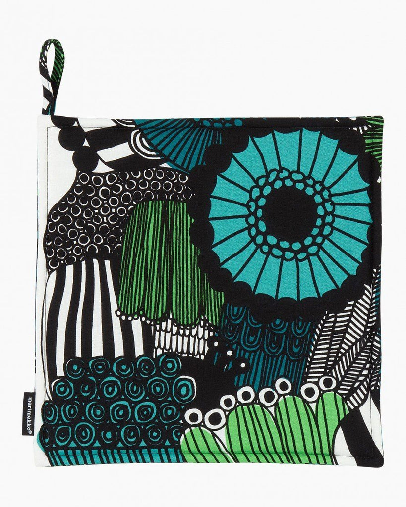 pieni siirtolapuutarha green pot holder textiles home
