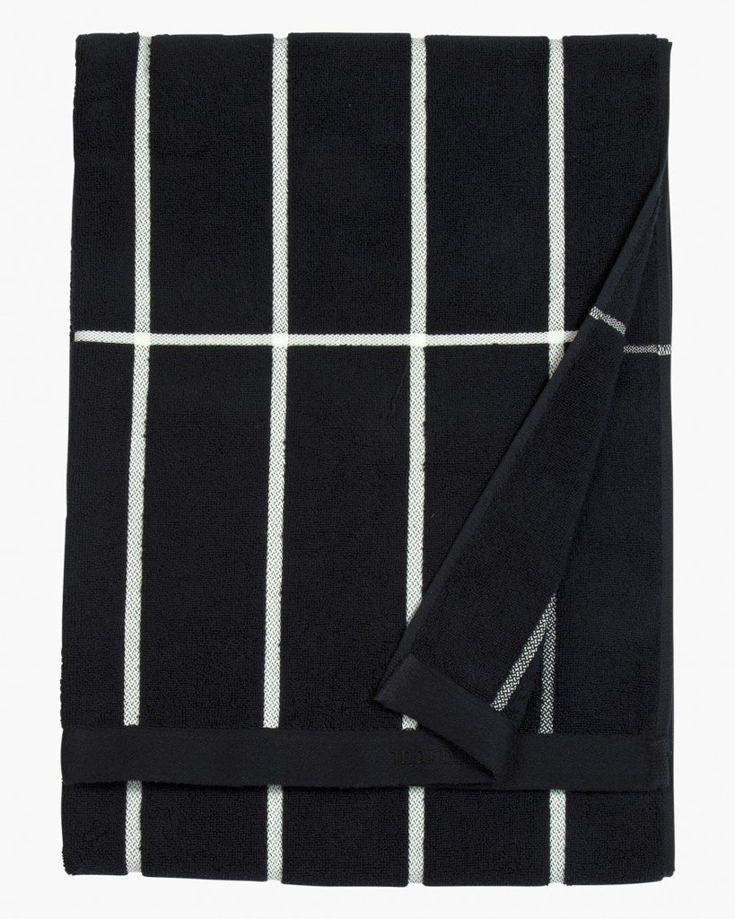 tiiliskivi bath towel towels bed bath 910 black/white 75 x 150 bath