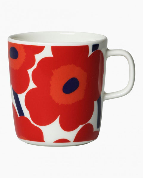 unikko large mug red unikko tableware home