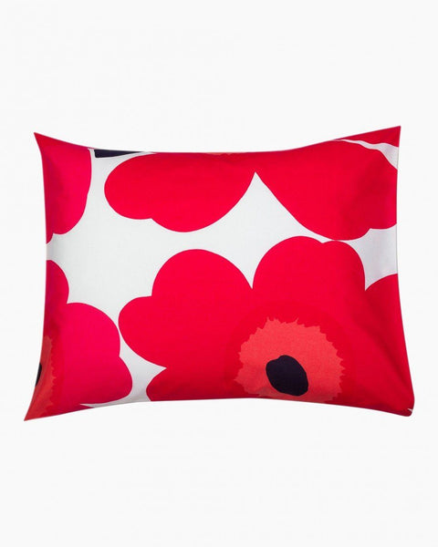 unikko pillowcase red bedding bed bath