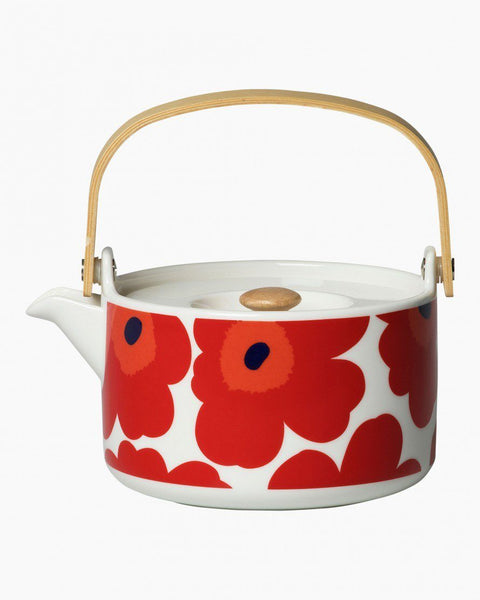 unikko teapot red unikko tableware home