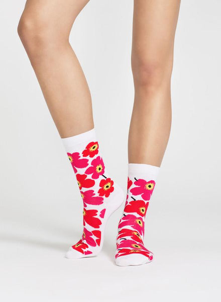 unikko white/red socks clothing