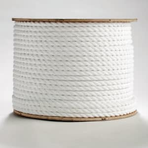3-Strand Twisted White Polypropylene Rope & 3-Strand Twisted White Polypropylene Rope