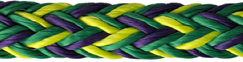 "7/8"" Husky Multi-Pro 12-Strand Double Carrier Hollow Braid"