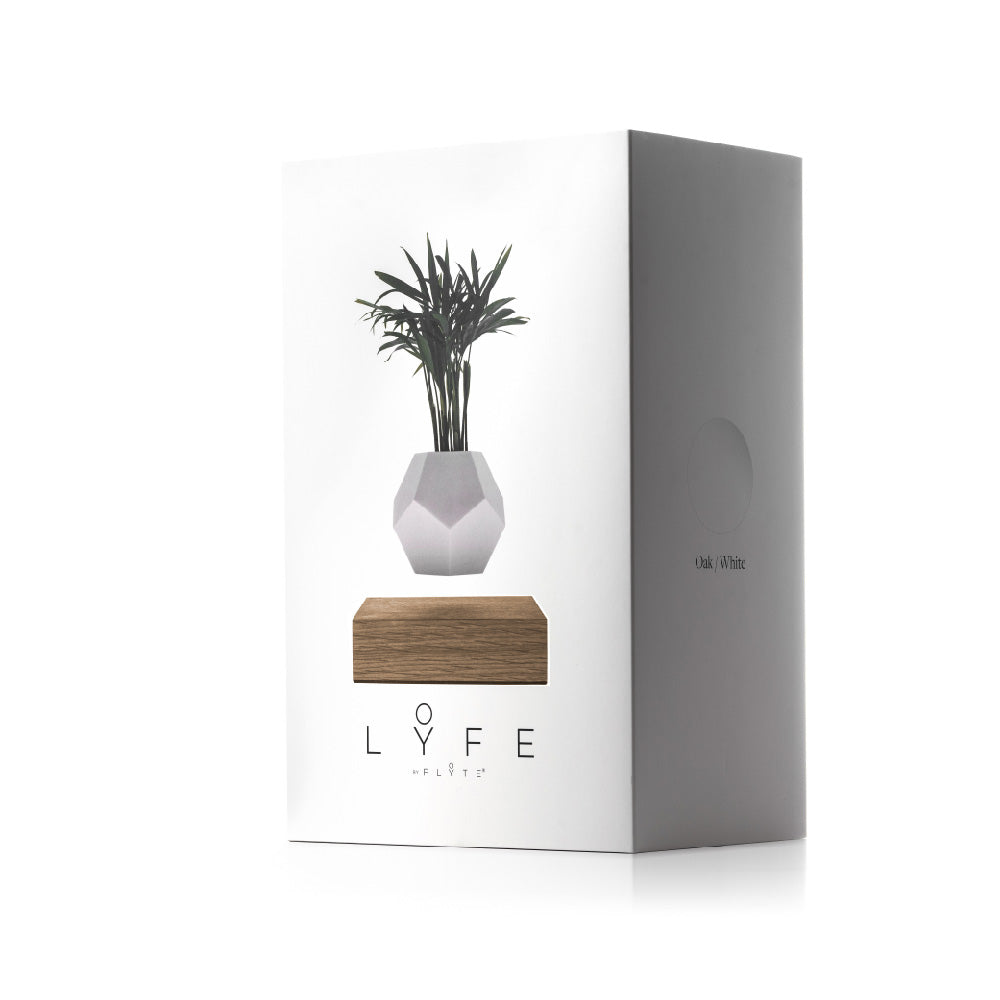 FLYTE levitating planter LYFE packaging box