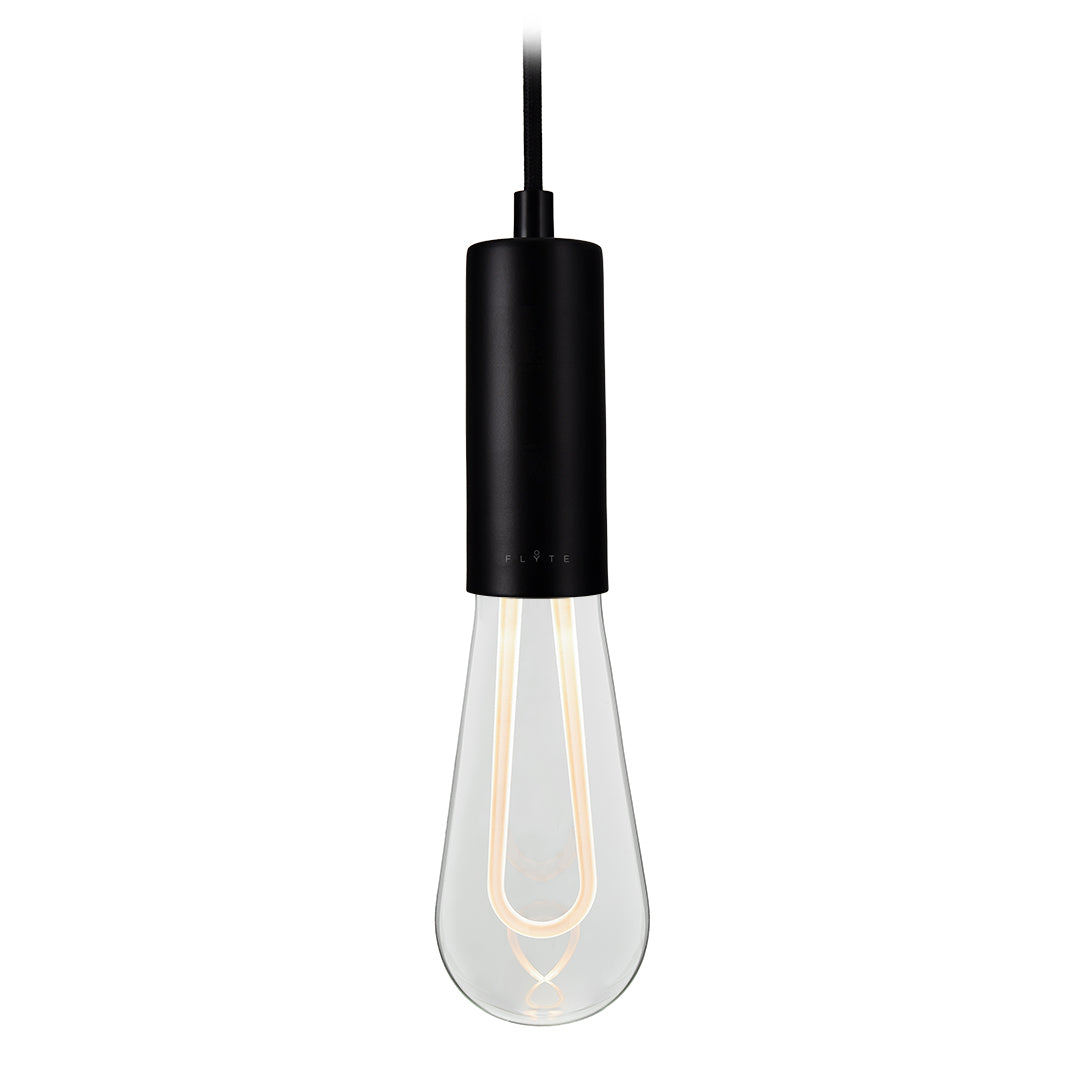 ARC the ultimate minimal, dimmable LED bulb in clear glass with pendant
