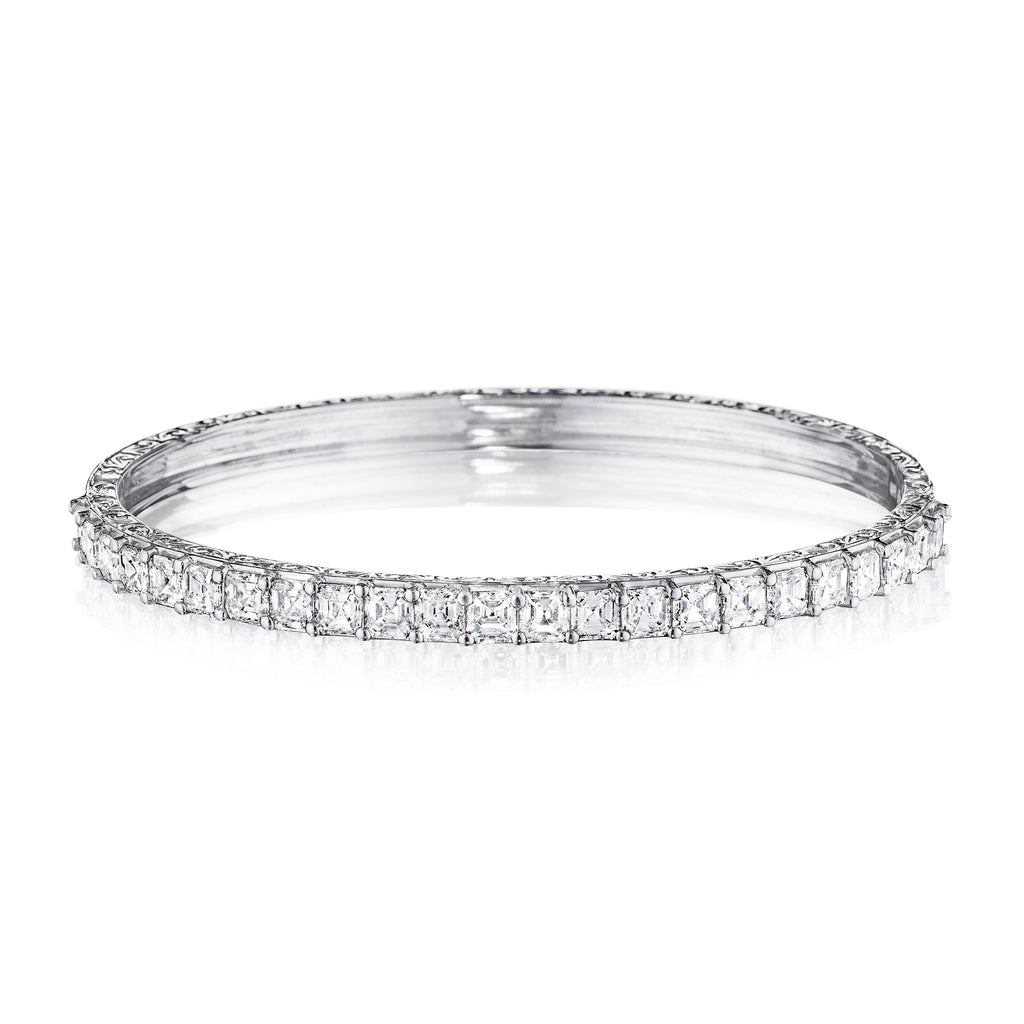 Asscher-Cut Diamond Bangle