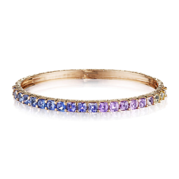Cushion Cut Watercolor Bangle