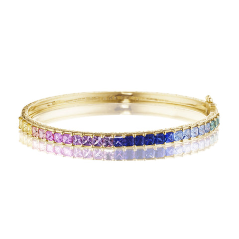 Princess Cut Watercolor Bangle