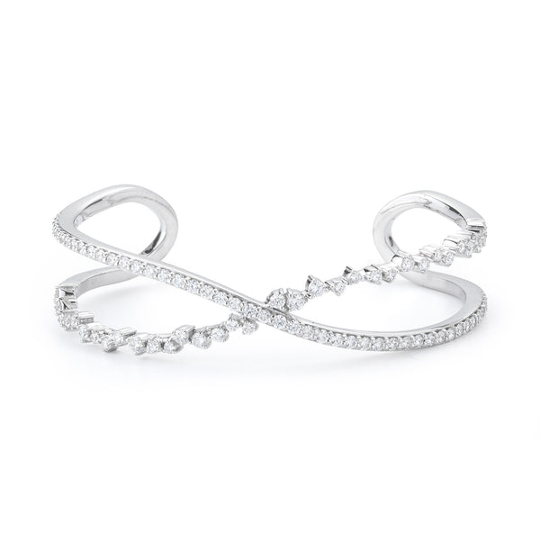 Criss Cross Stardust Open Cuff