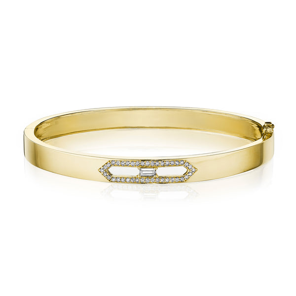Moderne Deco Cut-Out Deco Bangle