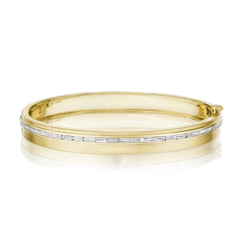 Moderne Deco Baguette Bangle