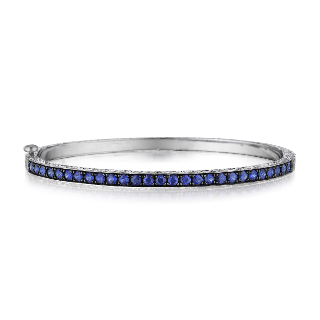 jewelry sapphire cz silver bling color bracelet tennis blue waved