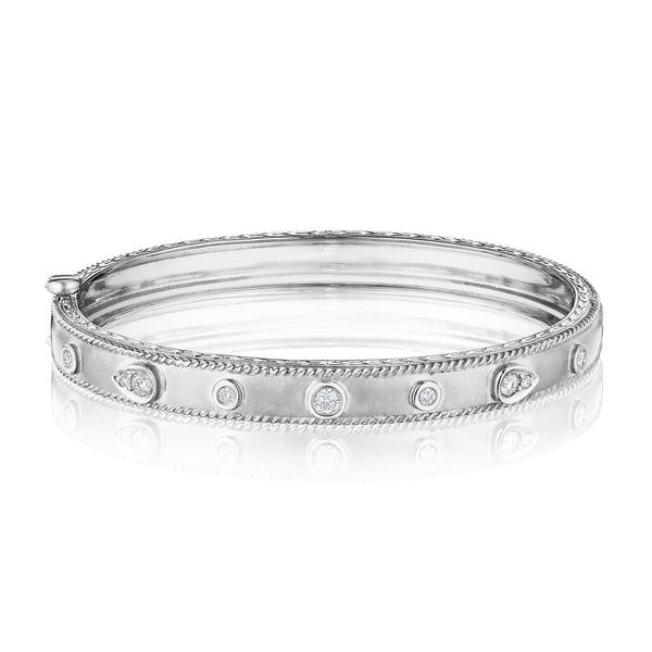 Round & Pear Shape Stacking Bangle