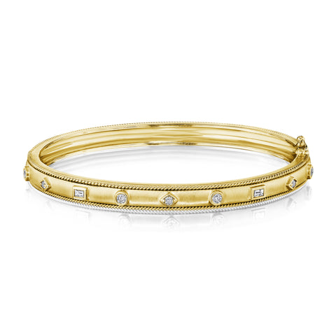 Mixed Shape Amulet Bangle