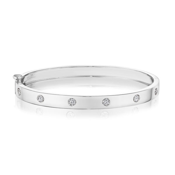 Moderne Deco Burnished Bangle