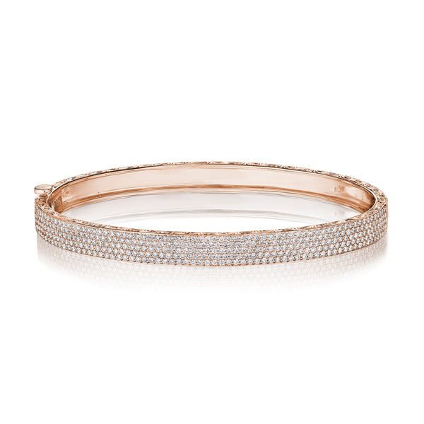 5 Row Straight Pave Bangle