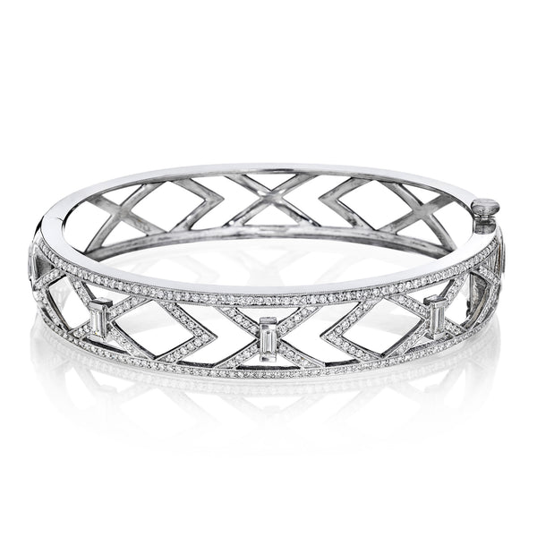 Openwork Art Deco Bangle