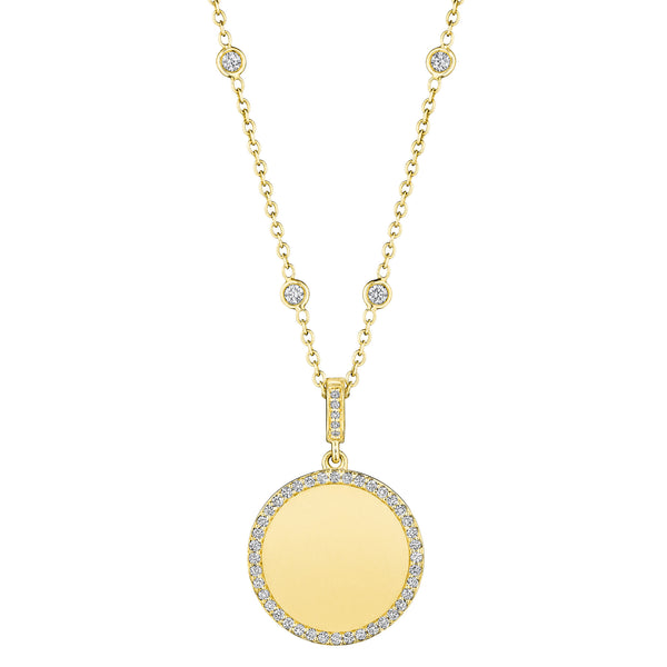 Engravable Round Medallion