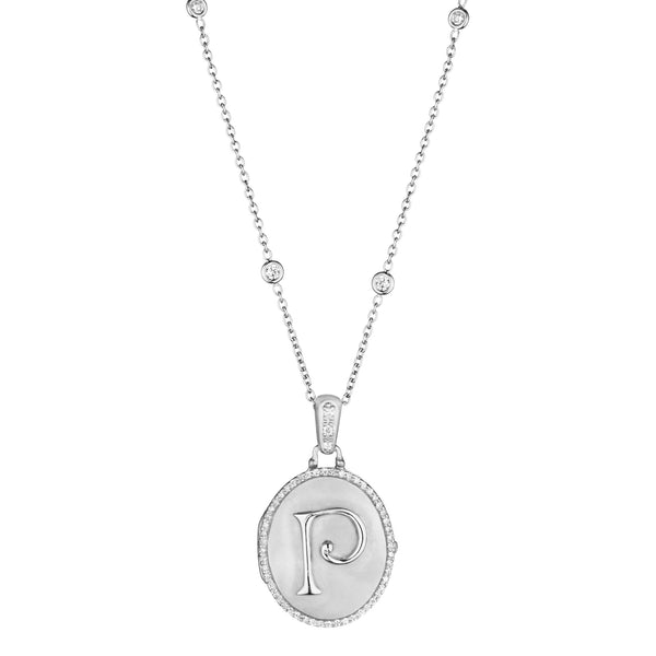 Initial Oval Amulet Locket