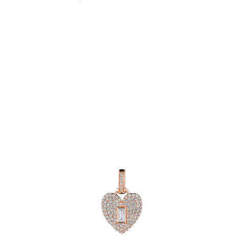 Baguette Heart Medallion