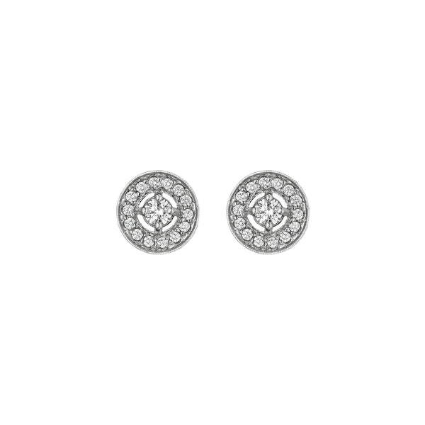 Round Engraved Stud Earrings