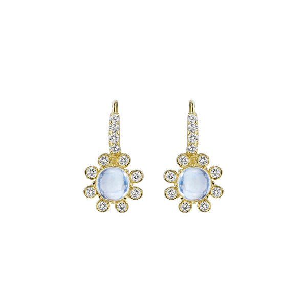 Round Moonstone Earrings