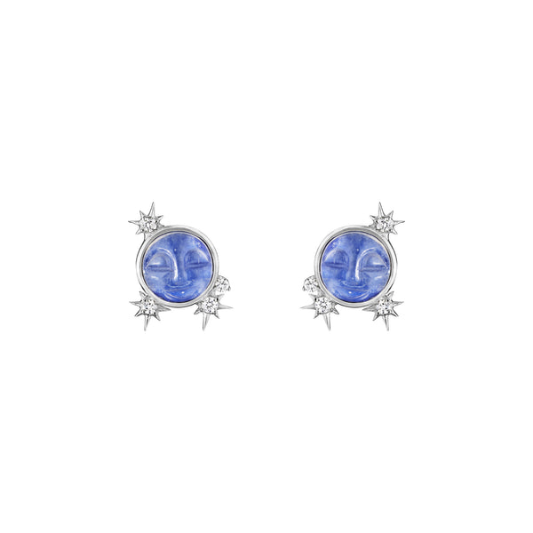 Man In The Moon Stud Earrings