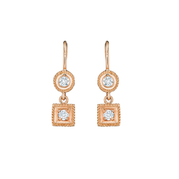 Classic Round & Square Earrings