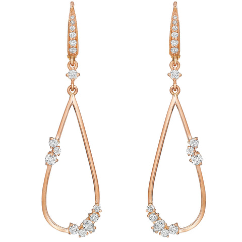 Petite Open Tear Drop Stardust Earrings