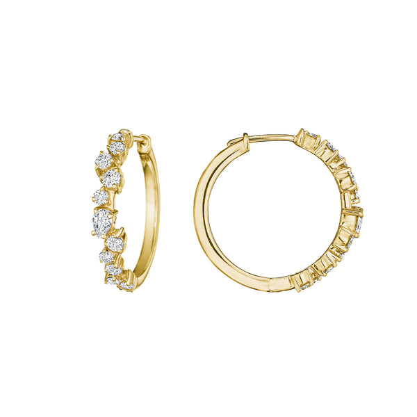 Petite Stardust Hoop Earrings