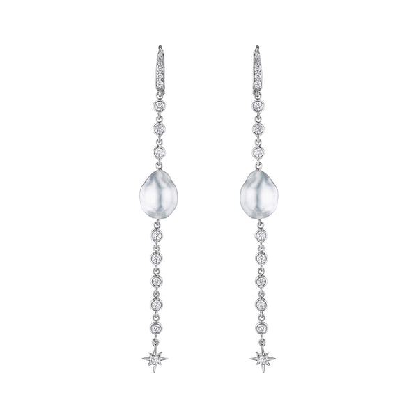 "3"" Pearl Drop Earrings"