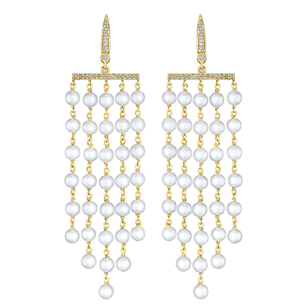 Cascading Waterfall Pearl Earrings