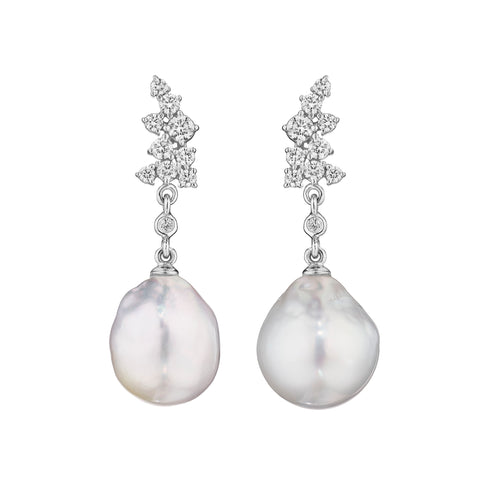 Stardust Pearl Drop Earrings